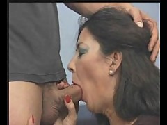 Asian milfs hairy pussy drilling