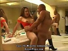 Asian with shaved hole loves the black cock