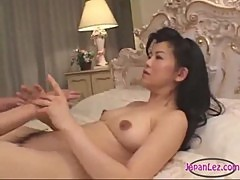 2 Asian Women Licking Fingering Pussies 69 On The Bed