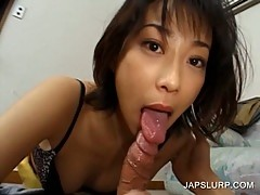Blowjob with dirty japanese babe