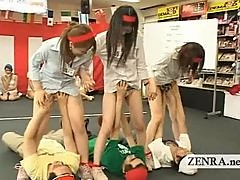 Japan employees play weird bizarre group oral sex game
