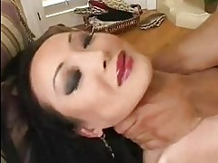 Handsome pale asian girl gets her shaved taco rammed