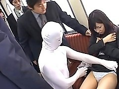 Japanese AV Model is masturbated on the train in front of people