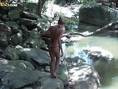 Hot Blonde Fucking Outdoors In Thailand