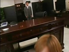Asian Secretary Sucks Her Boss!