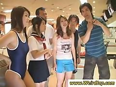 Asian Girls Are Out And Bowling With A Little Upskirt Shot