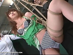 Japanese Bondage Sex - Hardcore BDSM Punishment of Asari