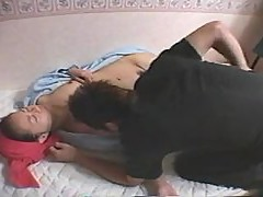 He eats out sexy sleeping Asian girl