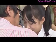 3 Schoolgirls Sucking Cocks Fucked By 3 Man In The Hall At The School Ceremony