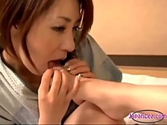 2 Asian Girls Sucking Tongues And Toes Licking Pussies In 69 On The Mattress