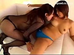 Asian Girl In Blue Panty Getting Her Toes Sucked..