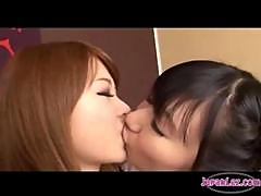 Asian Girl Kissing And Spitting With A Schoolgirl Tits Rubbed Legs Licked Toes Sucked On The Couch In The Sitting Room