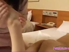 Asian Girl Massaged With Oil Toes Sucked Pussy Fingered In Doggy On The Bed In The Hotel Room