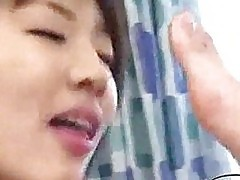 Asian girl getting her nipples and toes sucked pussy licked