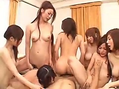 Asian lesnian orgy fuck fun