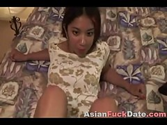 Asian teen long toes footjob