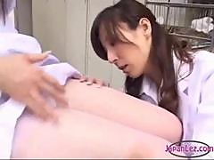 Nurse Getting Her Legs Licked Sucking Each Other Toes With The Doctor On The Bed In The Surgery