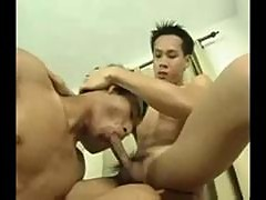 Petite asian twinks anal fuck fun