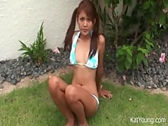 Pigtail asian thai teen fun