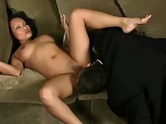 Sucking the sexy toes of a slim Asian girl