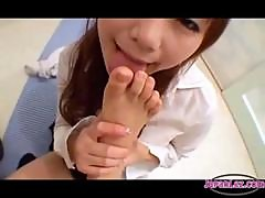 2 Schoolgirls Sucking Toes Rubbing Tits With Legs On The Floor