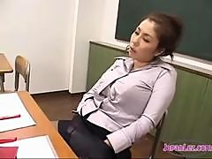 2 Teachers In Pantyhose Masturbating In Front Of Each Other Sucking Toes In The Classroom