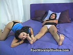 Asa Akira Sucking Toes of Latina Feet of ...