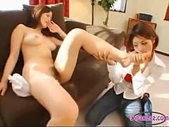 Asian Girl Getting Her Toes Sucked Pussy Licked..