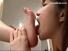 Asian Girl In Blue Panties Getting Her Toes..