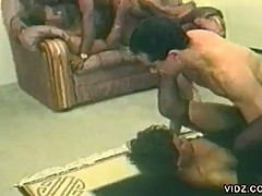 Black babe bree and asian chick gets pounded in hot orgy fuck