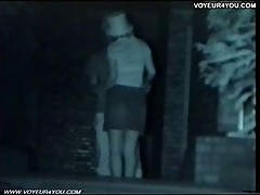IR hidden camera outdoor fucking
