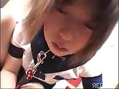 Japanese Teen Gets Fucked Hard After She Sucks His Stiff Cock