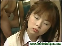 Real asian amateur teen gets bukkake in r ...