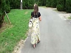 Pregnant Japanese Beauty Has to Fuck Hobos