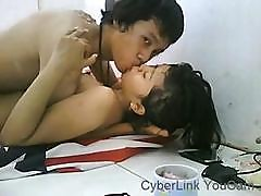 This Asian Couple Is Getting In Some Nice Fucking On Webcam