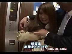 Japanese Schoolgirl Blowjob And Fucked In Elevator
