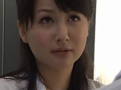 Japanese Secretary Drilled From Behind in the Office's Restroom