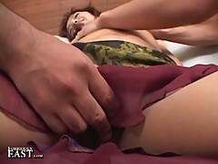 Young japanese babe abused by two horny dudes