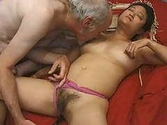 Mature asian chick banged hard
