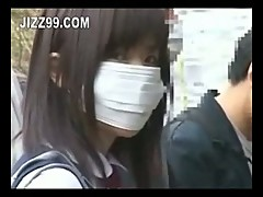 Japanese schoolgirl fucked on bus