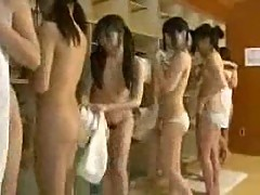Nude Japanese teen girls in water