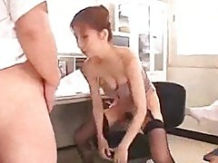 Nurse sucking guy cock riding on him on the bed in the hospi
