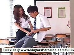 Yuki asada mature asian teacher at school gets a blowjob