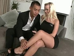 AMWF Cindy Dollar interracial with Asian guy
