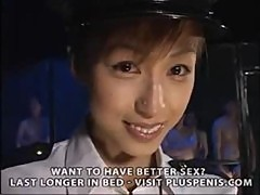 Japanese Policewoman Bukkake Part1