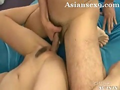 Asian tarts pussy creampie