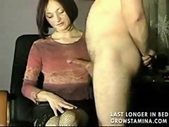 Hot amateur redhead in handjob compilation