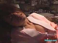 Drunken Girl In Kimono Fucked By 2 Guys Facial..